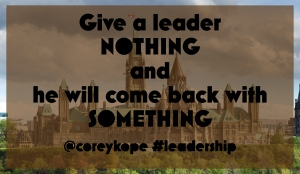Leadership - something from nothing
