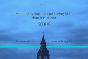 Seen-Seeing Holiness