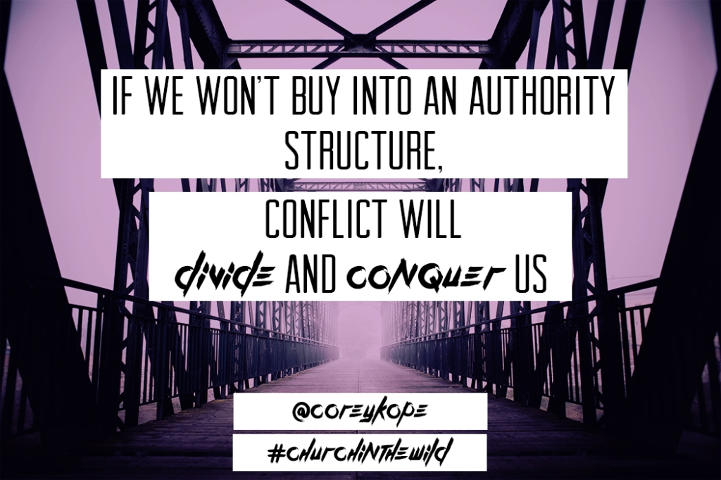 If we won't buy into an authority structure..