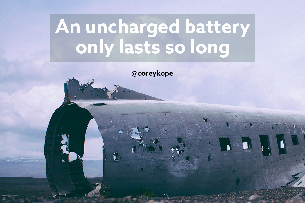 An uncharged battery